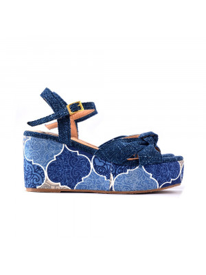 Denim Love plataforma baja
